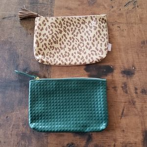 Ipsy makeup bags army green and leopard